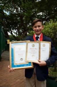 Ryan Kreusch won the Award for Best Junior Achiever in the region in the genre of Creative Arts