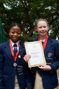 Asande Mzizi and SImonne van der Vyver were placed 9th and 6th respectively in the TOP TEN Achievers in the region.